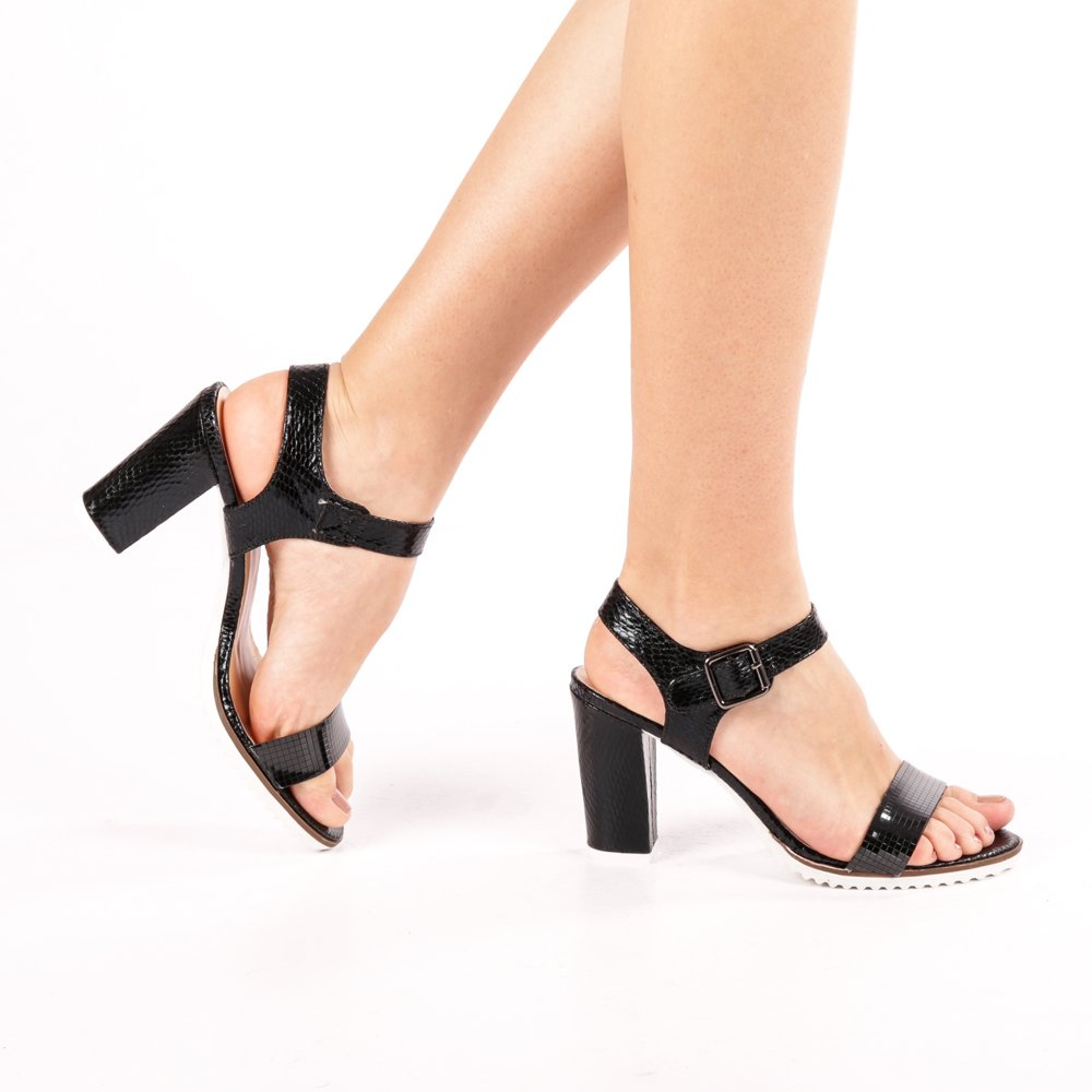 Sandale dama K64 negre